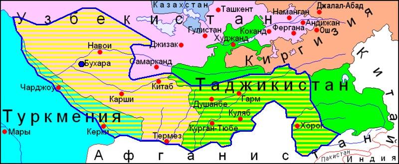 Карта Бухарского Эмирата